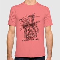Cat Mens Fitted Tee Pomegranate SMALL