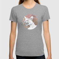 Bastet Unrequited Womens Fitted Tee Tri-Grey SMALL