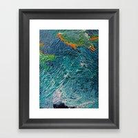 Ocean Depth Abstract Pai… Framed Art Print