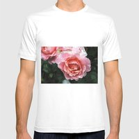 Dewdrop Roses Mens Fitted Tee White SMALL