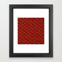 Glittered Christmas Framed Art Print