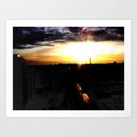 Fire in the sky(1) Art Print