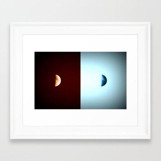 Glowing Waxing Crescent Framed Art Print