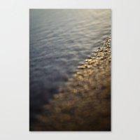 Sandy Sunrise On Beach Canvas Print