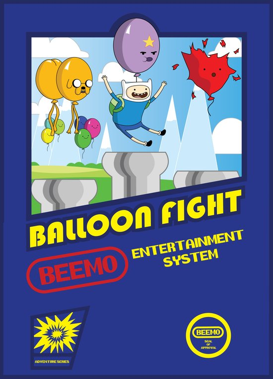 Adventure Time Balloon Fight Art Print