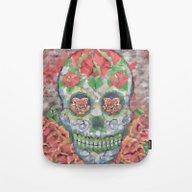 Polygon Skull Soft Color… Tote Bag