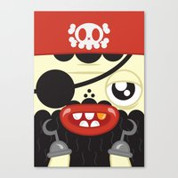 Pirate in Love Canvas Print