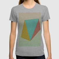 Patchwork Womens Fitted Tee Athletic Grey SMALL
