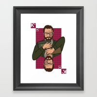 Walter white King of spades Framed Art Print