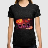 Voodoo Table Womens Fitted Tee Tri-Black SMALL