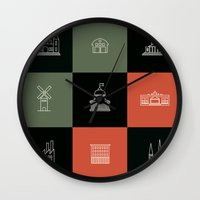Places Wall Clock