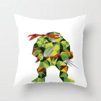 Twin Sai Turtle Throw Pillow