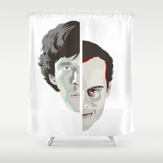 Old Fashioned Villain Shower Curtain