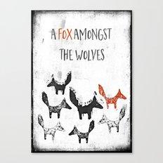 A fox amongst the wolves Canvas Print