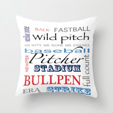 Baseball Pitcher Throw Pillow