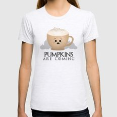Pumpkins Are Coming Womens Fitted Tee Ash Grey SMALL