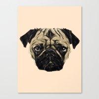 Geometric Pug Canvas Print