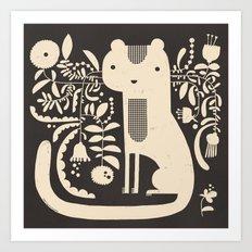 FLAMBOYANT WHISKERS Art Print