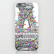 Paris Eiffel Tower Holiday Lights Multi iPhone 6 Slim Case