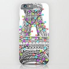 Paris Eiffel Tower Holiday Lights Multi Slim Case iPhone 6s