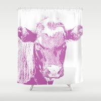 Pink Cow Shower Curtain