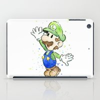 Luigi Watercolor Art iPad Case