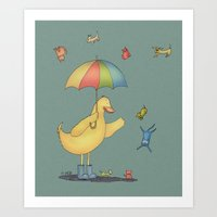 It's Raining Cats And Do… Art Print
