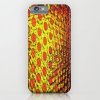 iPhone Cases featuring Fractal Descent #5 - Psychedelic Geometric Optical Illusion Void Trippy Colorful Design by capartwork