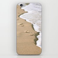 Footprints on the Beach iPhone & iPod Skin