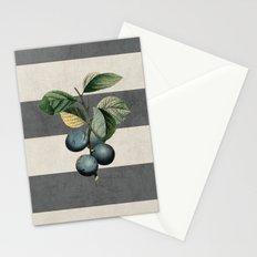 botanical stripes - plums Stationery Cards