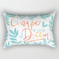 Let's Carpe The Hell Out Of This Diem - Watercolor Rectangular Pillow