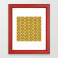 Honeycomb Hex Framed Art Print