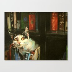 The Writer's Cat Canvas Print