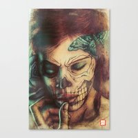 Skull Girl Canvas Print
