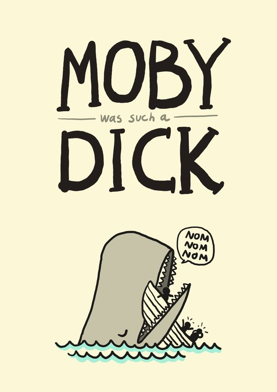 Moby (was such a) Dick Canvas Print