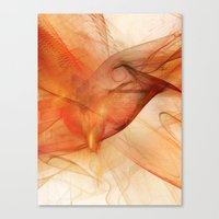 Orange Flames Canvas Print