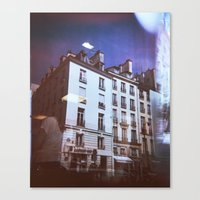 Canvas Print featuring Paris Holga, Le Marais by istillshootfilm