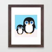 Adorable Penguins Framed Art Print
