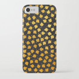 iPhone & iPod Case - AUTUMN - small gold leaves on chalkboard backround - Simplicity of life