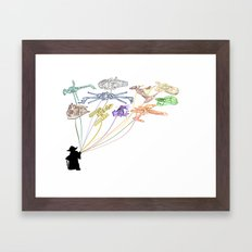 Balloons From The Rebel Alliance Framed Art Print