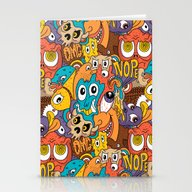 Weird Guys Pattern Stationery Cards