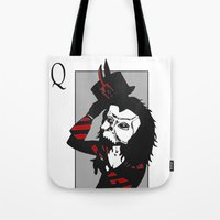 Courting The Crimson Que… Tote Bag