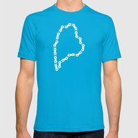 Ride Statewide - Maine Mens Fitted Tee Teal SMALL