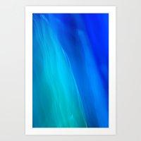 Blue Ocean Abstract Art Print