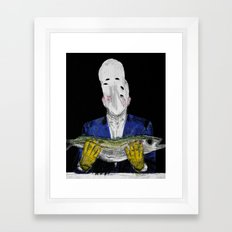 Meditation on a dead fish 2. 2015.  Framed Art Print