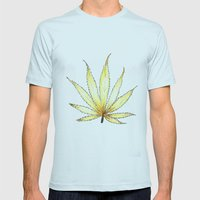 Golden Cannabis Mens Fitted Tee Light Blue SMALL