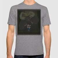 Monster girl in Horrorcolor Mens Fitted Tee Athletic Grey SMALL