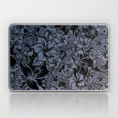Snaky Fleur, Blue Fade Laptop & iPad Skin