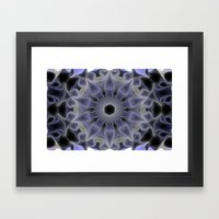 Lilac Mandala Framed Art Print