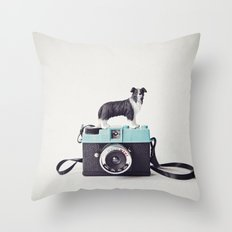 The Collie and The Diana Throw Pillow